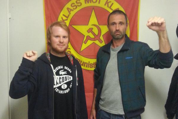 Nya medlemmarna Oskar Eriksson och Mikael Larsson.