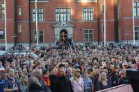 Antinazistiskt möte i Umeå.