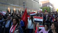 Demonstration mot Syrienkriget i Norrköping.