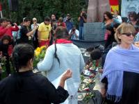 Chilemanifestation i Stockholm.
