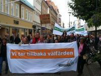 Stor demonstration i Malmö