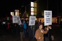Demonstration i Trollhättan 2009 mot nedläggningen av Saab.