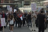 Manifestation mot Syrienkriget i Stockholm.