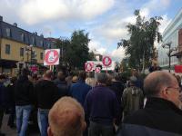 Volvodemonstration i Umeå.